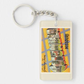 Columbia Missouri MO Old Vintage Travel Souvenir Double-Sided Rectangular Acrylic Keychain