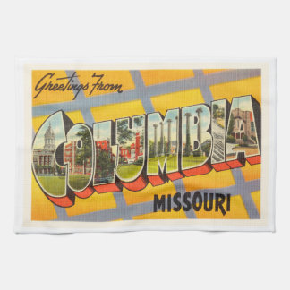 Columbia Missouri MO Old Vintage Travel Souvenir Kitchen Towel