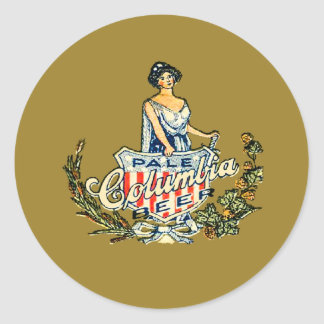 Columbia Pale Beer Classic Round Sticker
