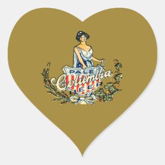 Columbia Pale Beer Heart Sticker