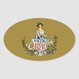 Columbia Pale Beer Oval Sticker
