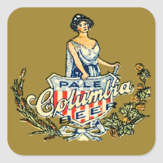 Columbia Pale Beer Square Sticker