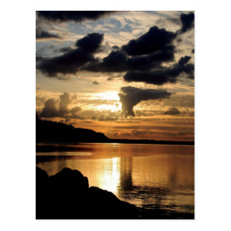 Columbia River Amber Glow of Twilight Postcard