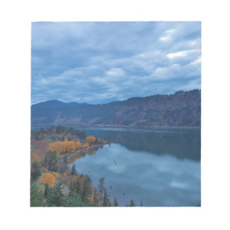 Columbia River Gorge Evening Blue Hour Notepad