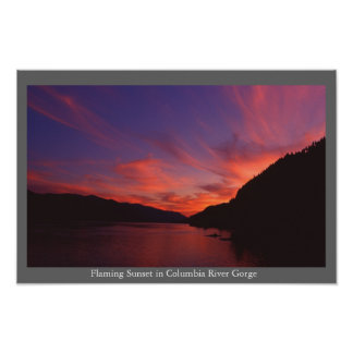 Columbia River Gorge Sunset Poster