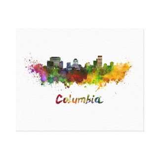Columbia skyline in watercolor canvas print