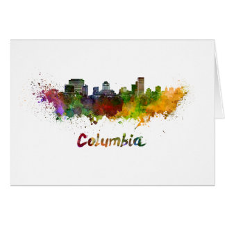 Columbia skyline in watercolor card