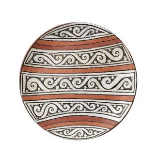 Columbian Porcelain Plate