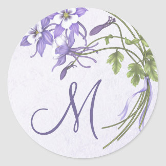 Columbine Bouquet Monogram Seal