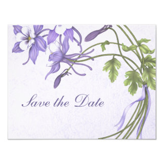 Columbine Bouquet Save the Date Card