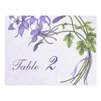 Columbine Bouquet Table Number (postcard) Postcard