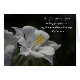 Columbine Flower Shooting Star Psalm 16:9 Card