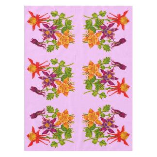 columbine flowers print tablecloth