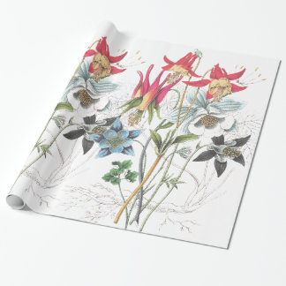 Columbine Flowers Wrapping Paper