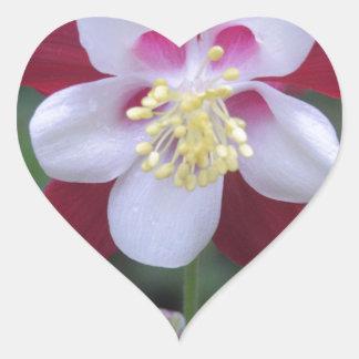 Columbine Heart Sticker