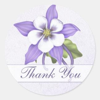 Columbine Thank You Envelope Sticker - Customize