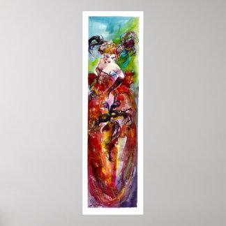 COLUMBINE Venetian Masquerade Ball Poster