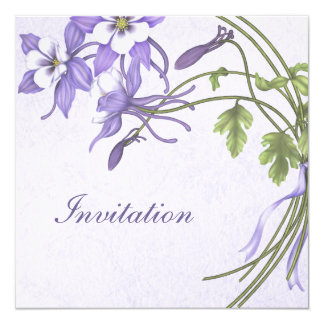 Columbine Wedding Invitations - Metallic Champagne