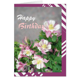 Columbines greeting card