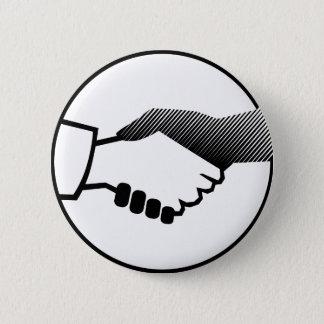 columbus 16  black white history agreement partner 2 inch round button