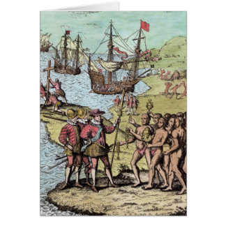 Columbus at Hispaniola Card