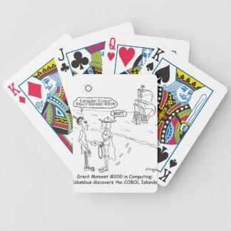 Columbus Cartoon 1333 Bicycle Playing Cards
