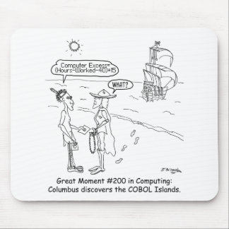 Columbus Cartoon 1333 Mouse Pad