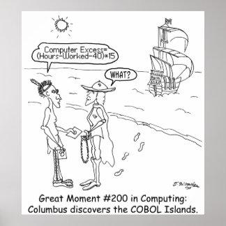 Columbus Cartoon 1333 Poster