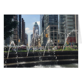 Columbus Circle New York City NYC Water Fountain Card
