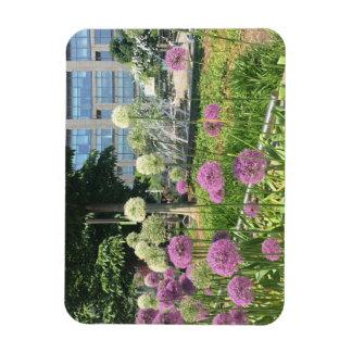 Columbus Circle NYC Allium Fountain Flowers Photo Magnet