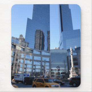 Columbus Circle NYC New York Skyscrapers Taxi Mouse Pad