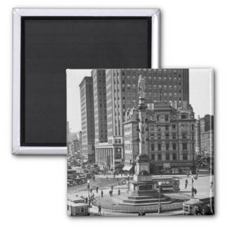 Columbus Circle Vintage Glass Slide Fridge Magnet