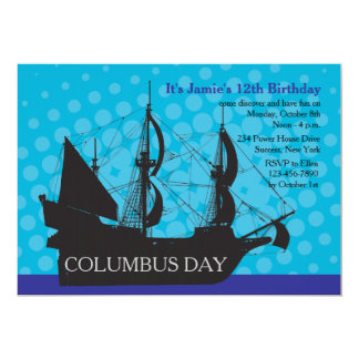 Columbus Day Party Invitation