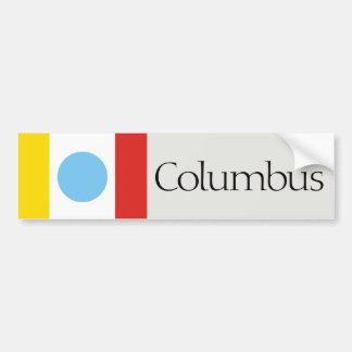 Columbus flag bumper sticker