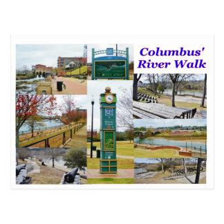 Columbus GA River Walk Postcard