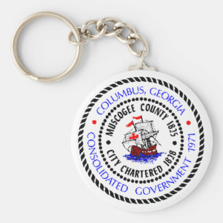 Columbus, Georgia Seal Basic Round Button Keychain