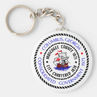 Columbus, Georgia Seal Keychain