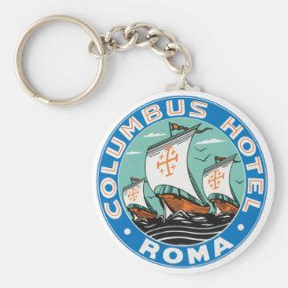 Columbus Hotel, Roma Keychain