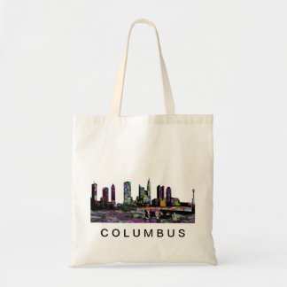 Columbus in graffiti tote bag