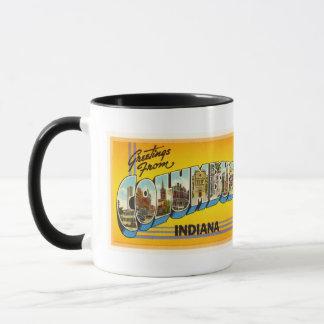 Columbus Indiana IN Old Vintage Travel Souvenir Mug