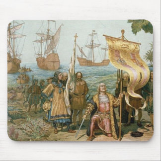 Columbus Landing in the Americas Mouse Pad