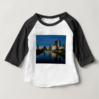 Columbus Night Skyline Baby T-Shirt
