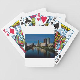 Columbus Night Skyline Bicycle Playing Cards