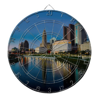 Columbus Night Skyline Dartboard
