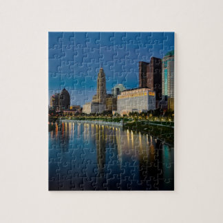 Columbus Night Skyline Jigsaw Puzzle