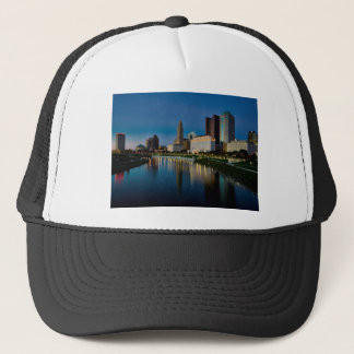 Columbus Night Skyline Trucker Hat