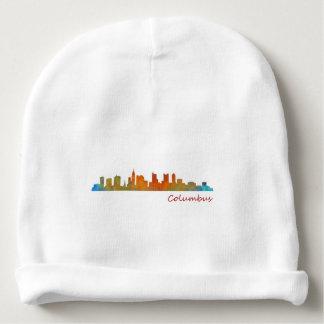 Columbus Ohio, City Skyline, v1 Baby Beanie