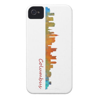 Columbus Ohio, City Skyline, v1 Case-Mate iPhone 4 Cases