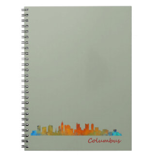 Columbus Ohio, City Skyline, v1 Notebooks