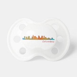 Columbus Ohio, City Skyline, v1 Pacifier